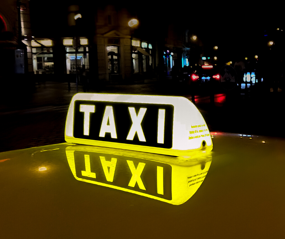 taxi sign lite up