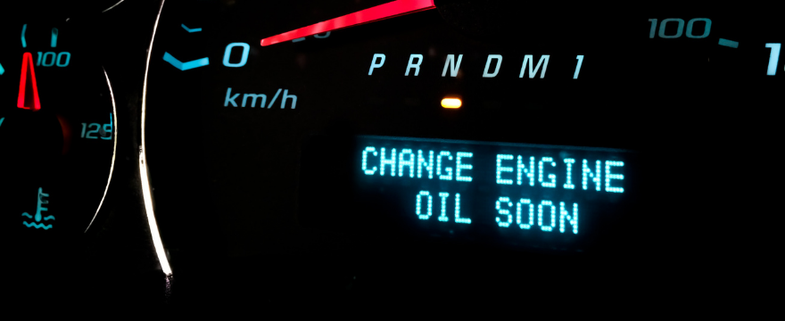 A car with a change engine oil soon light on