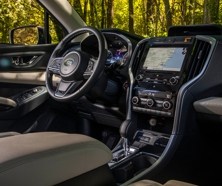 inside front view of the subaru ascent suv