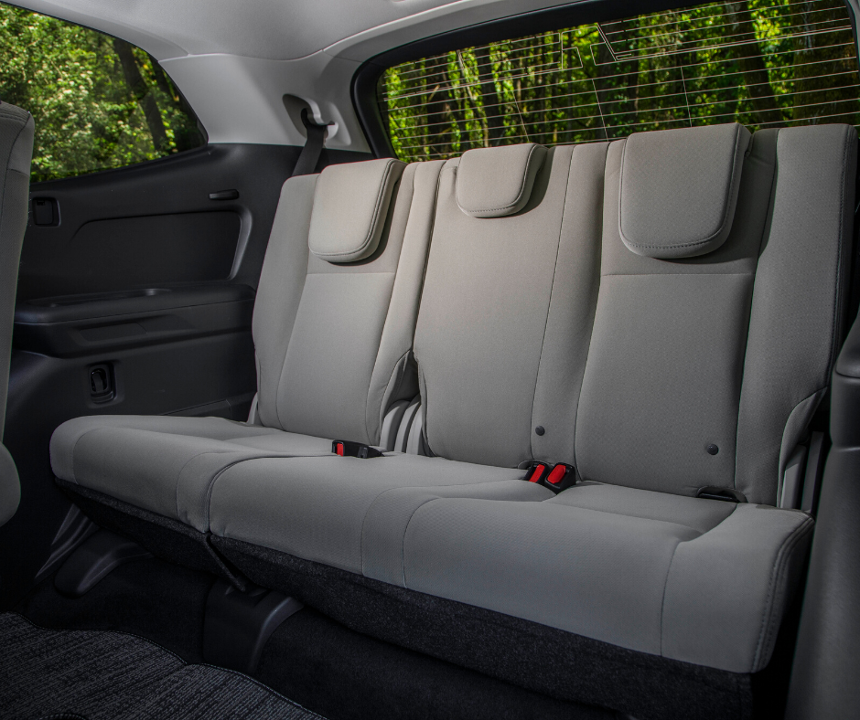 back seat of the Subaru Ascent SUV
