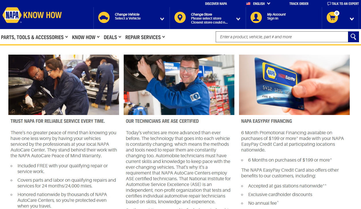 Finding a mechanic shop you can trust using Napa Auto Care Centers service
