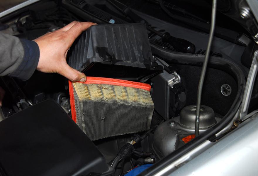 Routine car maintenance, air filter