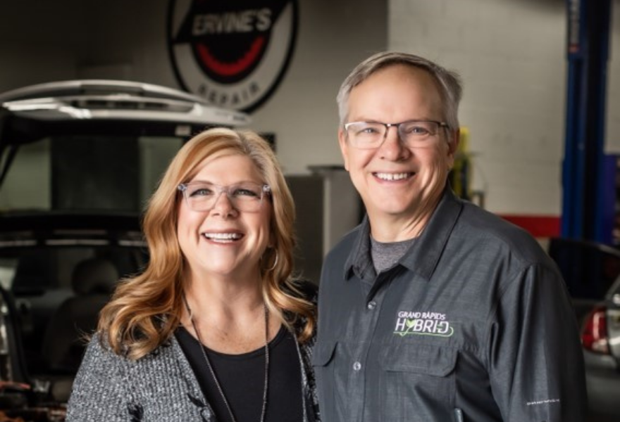 The owners of a hybrid repair shop